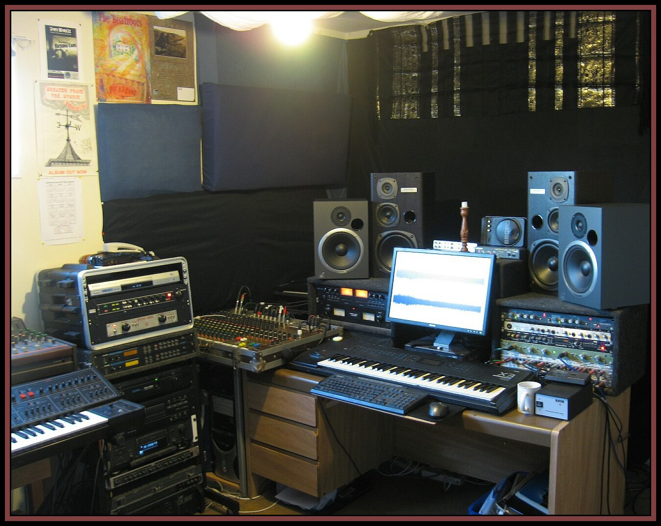 The studio control room