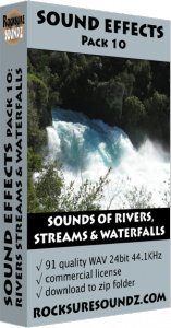 Pack 10 Sounds of Rivers Streams and Waterfalls Image