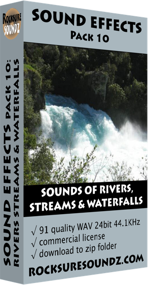 Pack 10 Sounds of Rivers Streams and Waterfalls
