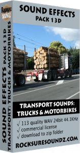 Pack 13D Transport Sounds: Trucks and Motorbikes Image