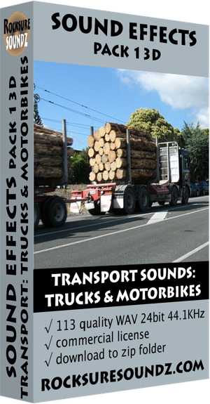 Pack 13D Transport Sounds: Trucks and Motorbikes