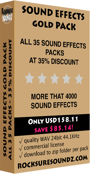 Sound Effects Gold Pack
