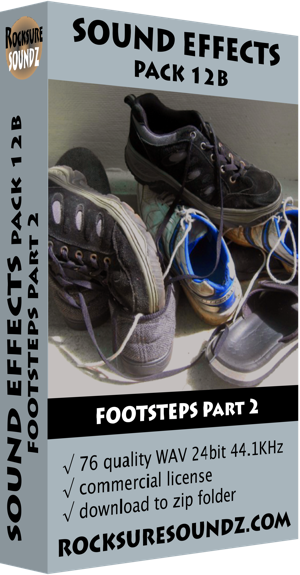 Pack 12B Footsteps Part 2  ***NEW***