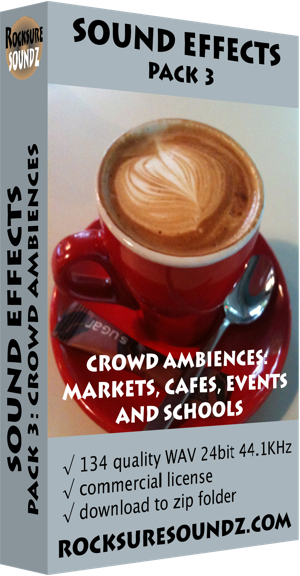 Pack 03 Crowd Ambiences: Markets Cafes Events Schools