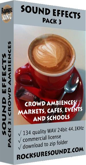 Pack 03 Crowd Ambiences: Markets Cafes Events Schools