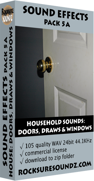 Pack 05A Household Sounds: Doors Draws and Windows