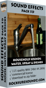 Pack 05D Household Sounds: Water Spay and Drinks Image