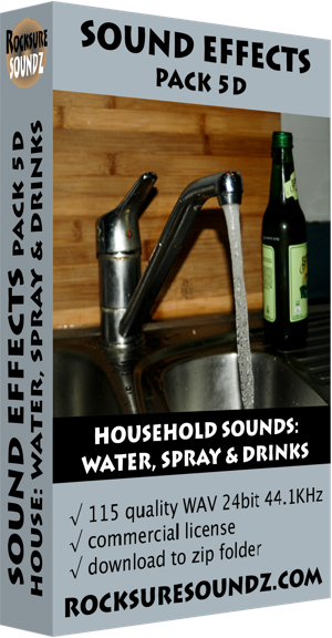 Pack 05D Household Sounds: Water Spray and Drinks