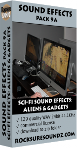 Pack 09A Sci-Fi Sound Effects: Aliens and Gadgets Image