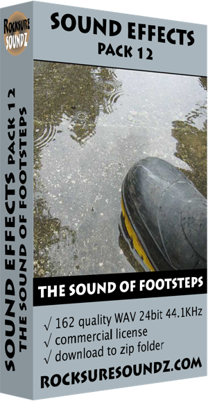 Pack 12 The Sound of Footsteps | Rocksure Soundz