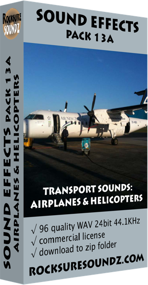 Pack 13A Transport Sounds: Airplanes and Helicopters
