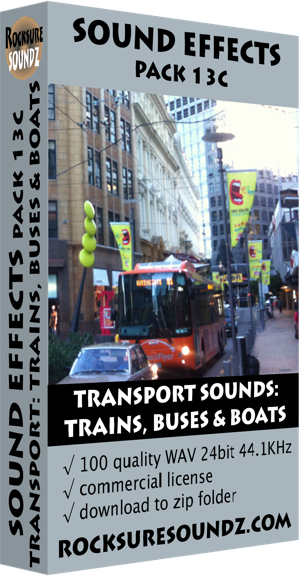 Pack 13C Transport Sounds: Trains Buses and Boats