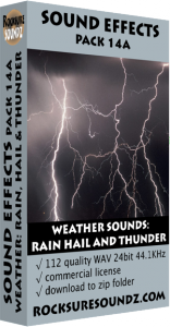 Pack 14A Weather Sounds: Rain Hail and Thunder Image