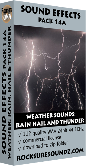 Pack 14A Weather Sounds: Rain Hail and Thunder