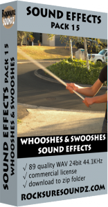 Pack 15 Whooshes and Swooshes Sound Effects Image