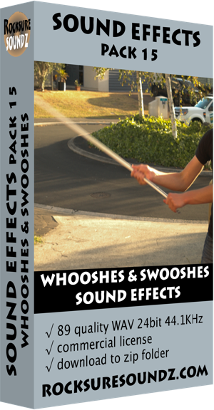 Pack 15 Whooshes and Swooshes Sound Effects