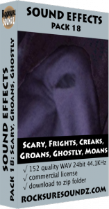 Pack 18 Scary Frights Creaks Groans Ghostly Moans Image
