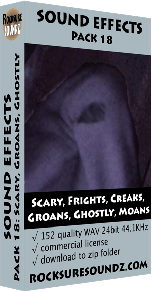 Pack 18 Scary Frights Creaks Groans Ghostly Moans
