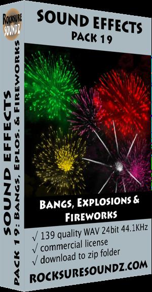 Pack 19 Bangs, Explosions & Fireworks