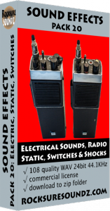 Pack 20 Electrical Sounds: Radio Static, Switches, Shocks, Electricity Image
